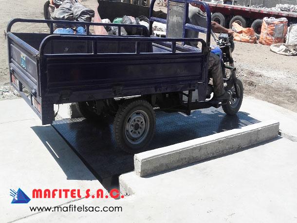 Fabricación Balanza Motocarga Industria Perú